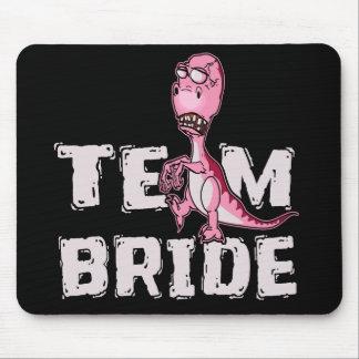 Team Bride Pink Dinosaur Bridal Shower Mouse Pad