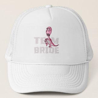 Team Bride Pink Dinosaur Bridal Shower Trucker Hat