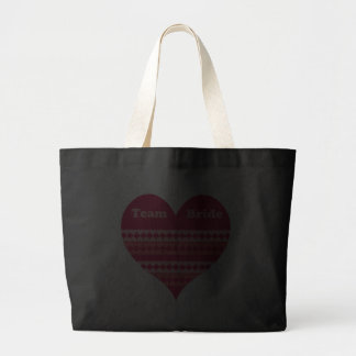 Team Bride pink heart Canvas Bag