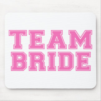 Team Bride Pink Mouse Pads