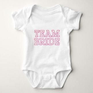 Team Bride Pink Outline Baby Bodysuit