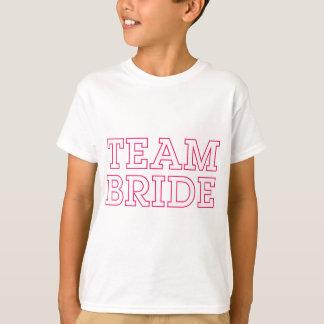 Team Bride Pink Outline T-Shirt