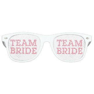 Team Bride Pink Retro Sunglasses