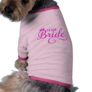 Team bride, pink word art dog tshirt