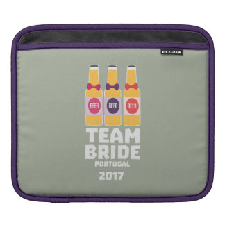 Team Bride Portugal 2017 Zg0kx iPad Sleeve