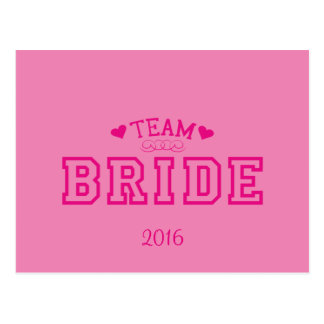 Team Bride Postcard