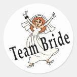 Team Bride Round Stickers