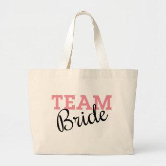 Team Bride Script Tote Bags