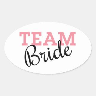 Team Bride Script Oval Sticker