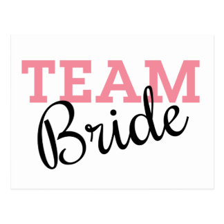 Team Bride Script Postcard