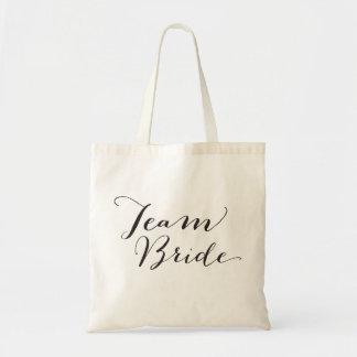 Team Bride ScriptBridal Party Wedding Tote Bag
