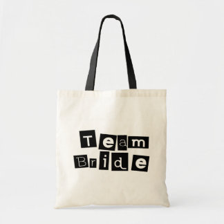 Team Bride (Sq Blk) Bag