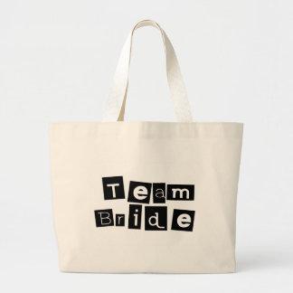Team Bride (Sq Blk) Tote Bags
