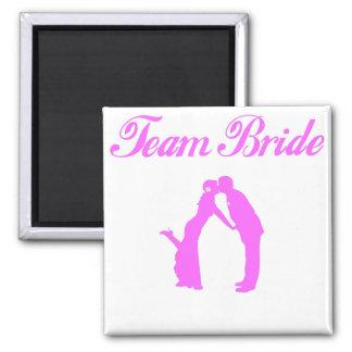 Team Bride Square Magnet