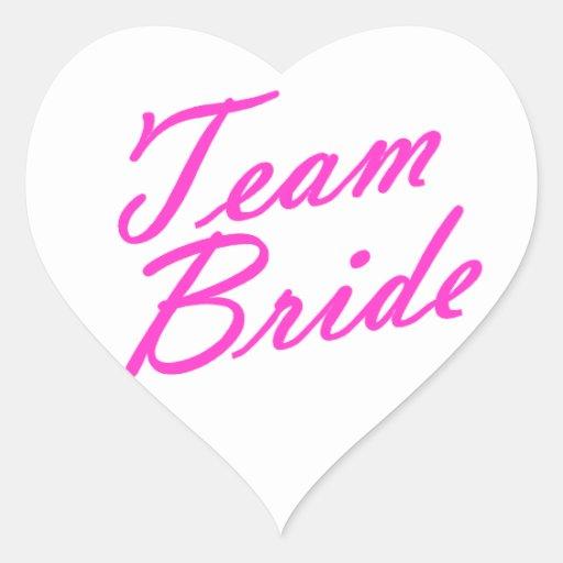 Team Bride Heart Sticker