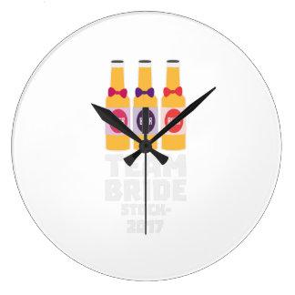 Team Bride Stockholm 2017 Z0k5v Large Clock