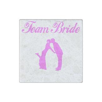 Team Bride Stone Magnet