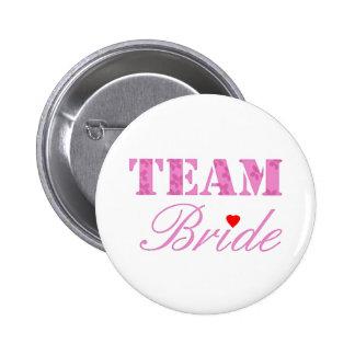 Team Bride Theme 6 Cm Round Badge