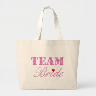 Team Bride Theme Jumbo Tote Bag