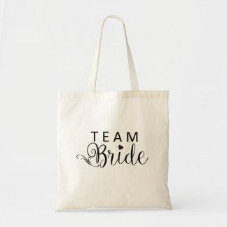 Team Bride Tote Budget Canvas Tote Bag