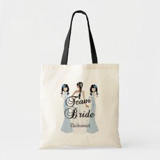Team Bride   Wedding   Blue   DIY Text Tote Bag