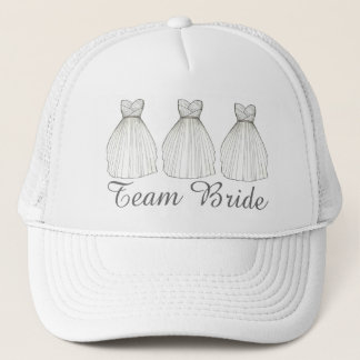 Team BRIDE Wedding Dress Gown Bridal Party Hat