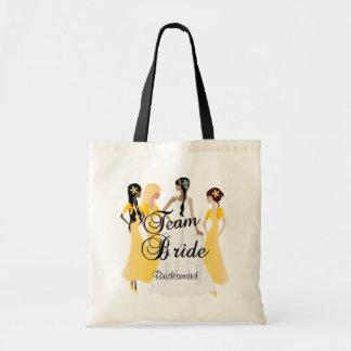 Team Bride | Wedding | Golden Yellow Budget Tote Bag