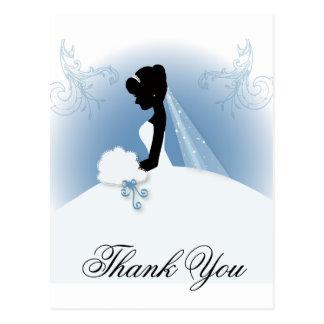 Team Bride Wedding gown bridal silhouette Postcard