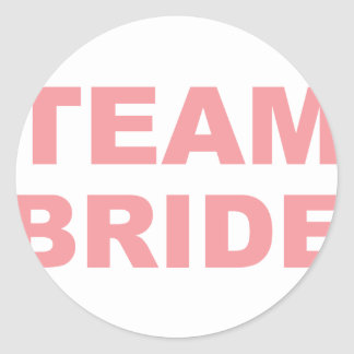 Team Bride Wedding Hen Party Round Sticker