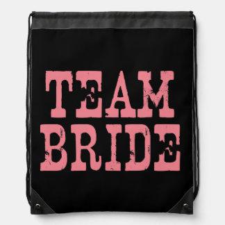 Team Bride Western Pink on Black Rucksacks