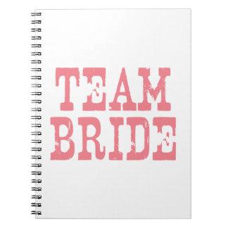 Team Bride Western Pink Spiral Notebooks