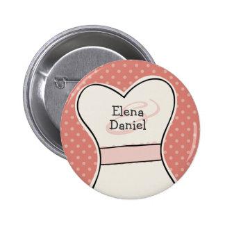 Team Bride (with Names) custom wedding favor PINK 6 Cm Round Badge