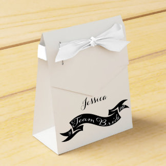 Team Bride XO Heart Ribbon Favour Box
