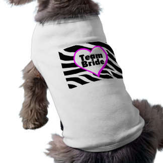 Team Bride (Zebra Print) Sleeveless Dog Shirt