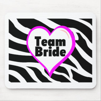 Team Bride Zebra Stripes Mouse Pad