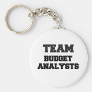 Team Budget Analysts Keychains
