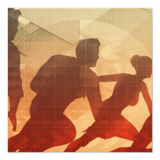 Team Building Activities to Increase Morale 13 Cm X 13 Cm Square Invitation Card
