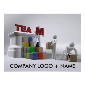 Team building (customisable) poster-various sizes poster