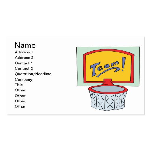 Team Business Card Templates