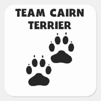 Team Cairn Terrier Square Sticker