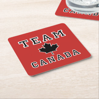 Team Canada Square Paper Coaster