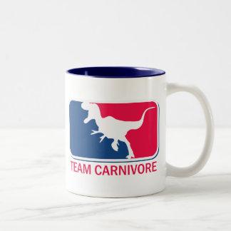 Team Carnivore Meat Lover Steak Eater Two-Tone Coffee Mug