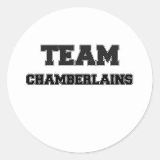 Team Chamberlains Round Sticker
