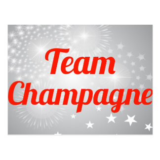 Team Champagne Post Cards