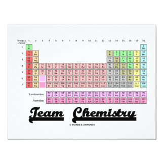 Team Chemistry (Periodic Table Of Elements) 11 Cm X 14 Cm Invitation Card