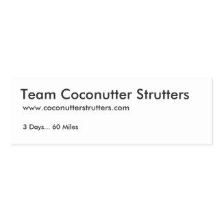 Team Coconutter Strutters Business Cards