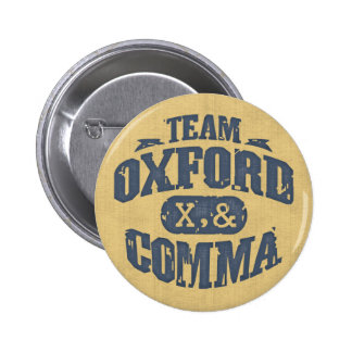 Team Comma Pinback Buttons
