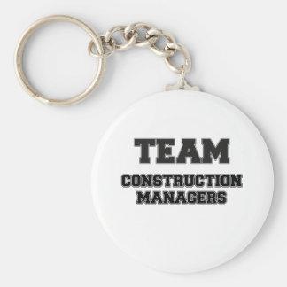 Team Construction Managers Keychains