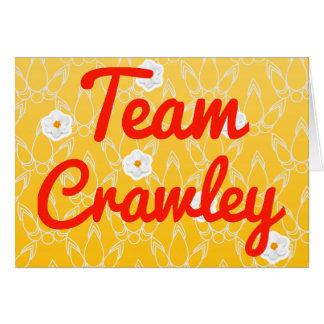 Team Crawley Card