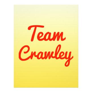 Team Crawley Flyer Design